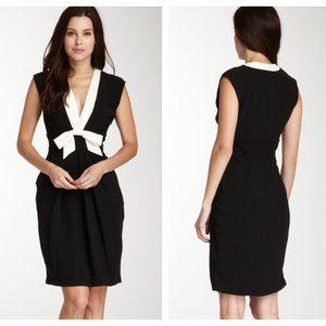 Eva Franco Deep Pleated V-Neck Sleeveless Dress 10